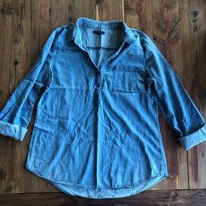Old Navy Blue Chambray Tunic Shirt